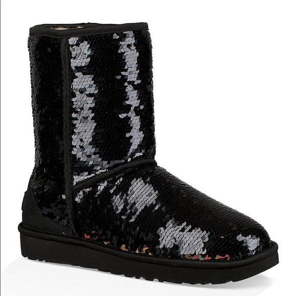 UGG Shoes   Black Sparkly Uggs Size 7